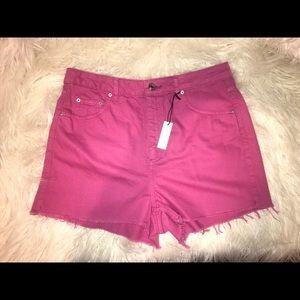 TOPSHOP Moto Mom Shorts Size 10